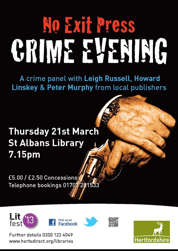A4 No Exit Crime evening poster
